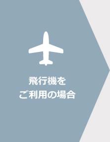 飛行機をご利用の場合